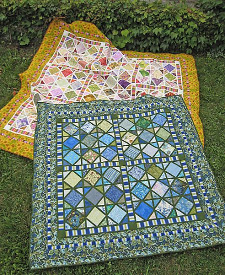 One of my favorite Scrappy Quilt Patterns in the ScrapTherapy pattern series. Stained Glass is easy enough for a beginner quilter with impressive results