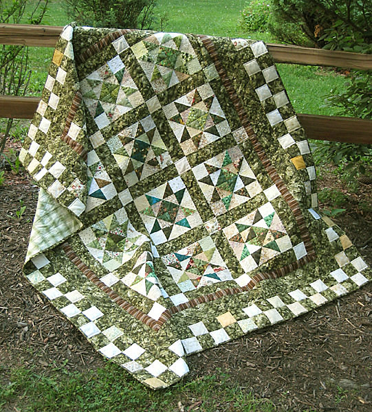 Star Light Star Bright Scrappy Quilt Pattern from Hummingbird Highway