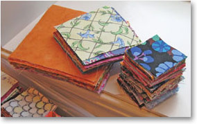Fabric scraps for quilting