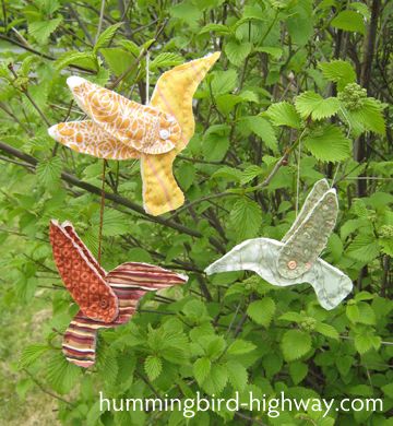 Scrappy Hummingbirds, free quilting pattern