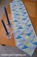 Up One Side Quilted Table Runner pattern