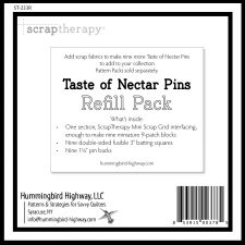 Taste of Nectar Refill Pack. Precut fusible batting, pins and ScrapTherapy Mini Scrap Grid. No pattern