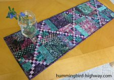 Scrappy Quilted Table Runner pattern