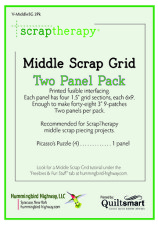 Middle Scrap Grid Interfacing