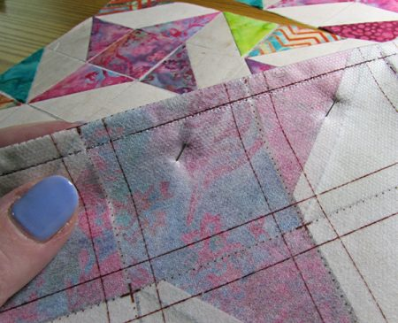 Ribbon star quilt block tutorial