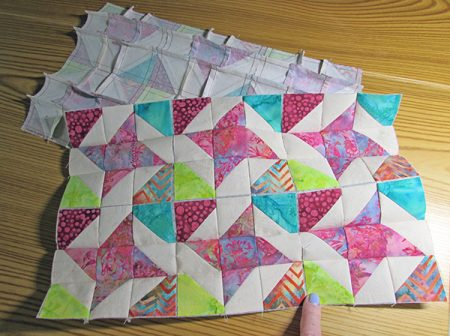 Ribbon star block swap