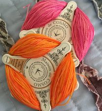 Floss Bobbins with thread