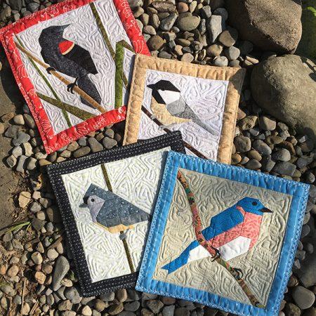 The FLOCK bird quilt blocks, bird quilts