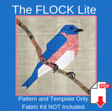 The FLOCK Lite patterns and templates to make bird quilt blocks from stash fabrics