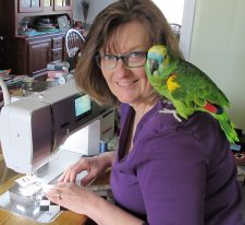 Joan Ford with bird