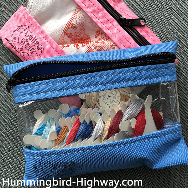 Vinly pouches for craft storage