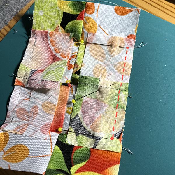 Four patch pin cushion tutorial