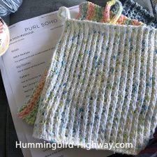 Waffle wash cloth pattern from Purl Soho