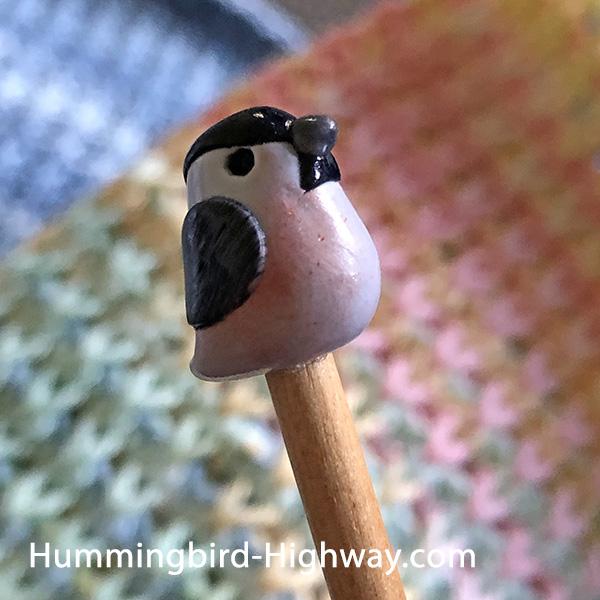 Bird knitting needles