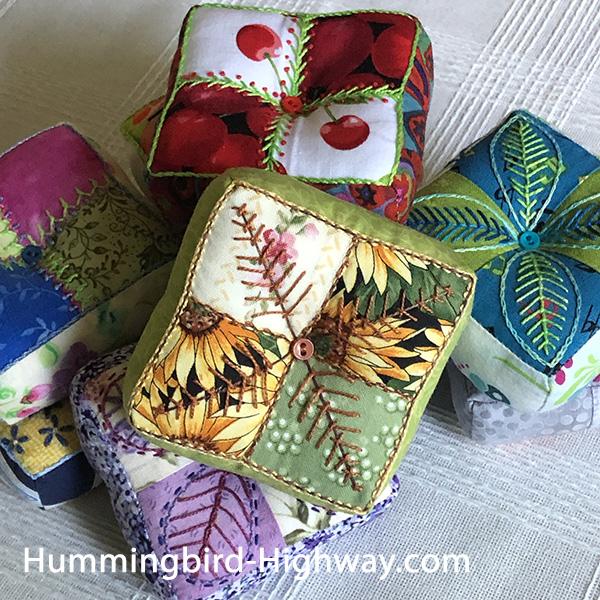 Four Patch Pin Cushion