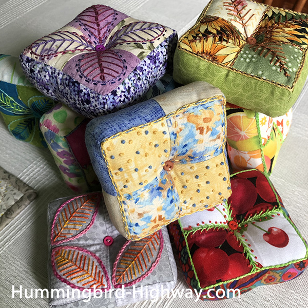 Puffy Fours four patch pin cushion