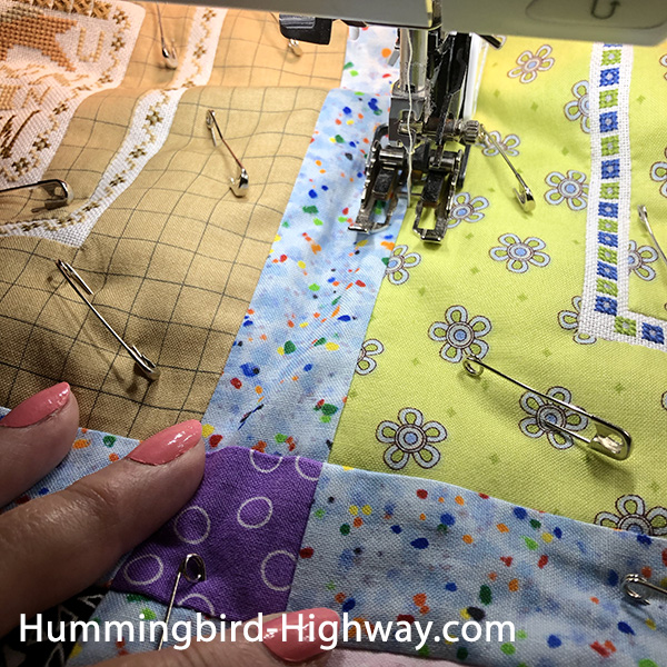 Straight quilting with walking foot