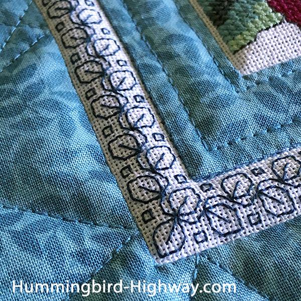 Stitched border