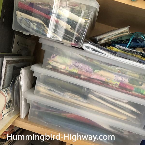 shelf of projects