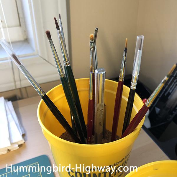 Nerd paint brushes