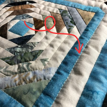 Ditch quilting
